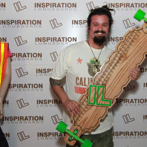 Congrats to Emilio who won his pick of a bamboo deck off the wall in the raffle!
